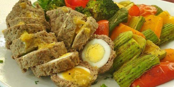 أسرع وجبة لمتبعي حمية الكيتو ( Baked Scotch Eggs )